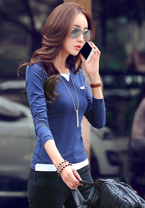 WT6887 Stylish Top Blue