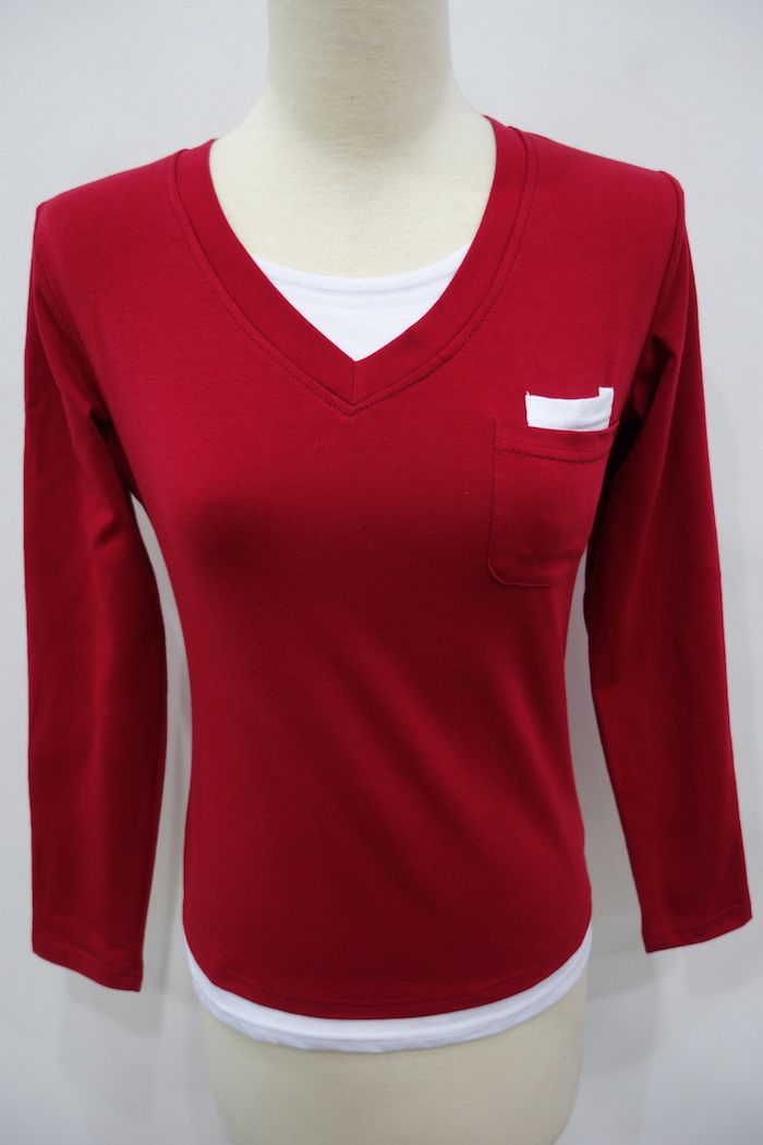 WT6887 Stylish Top Red