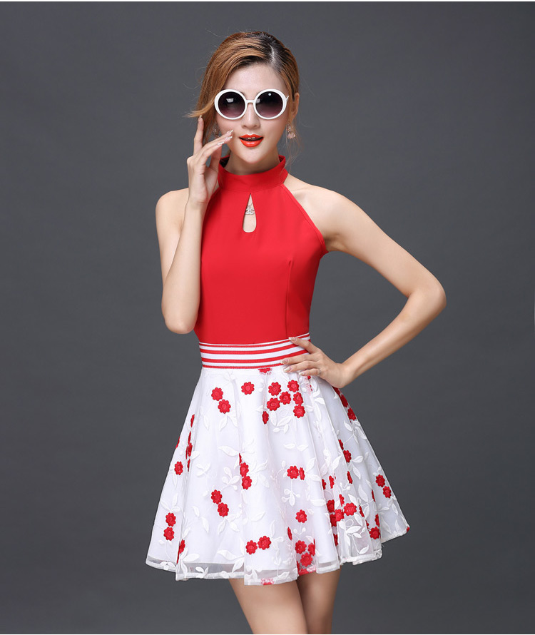 WT6944 Top and Skirt As Picture (1 Set)