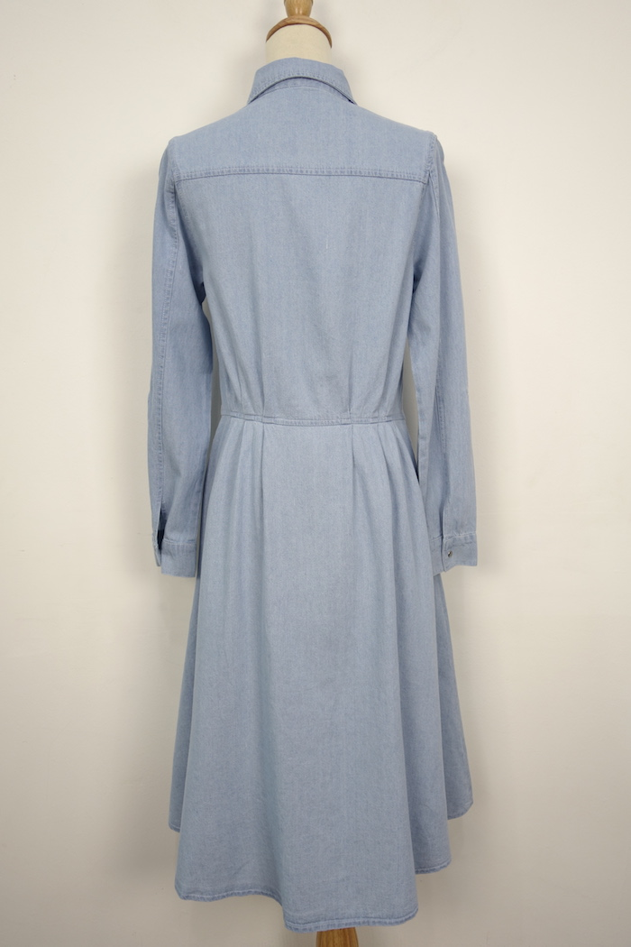 WD3694 Denim Maxi Dress Light Blue