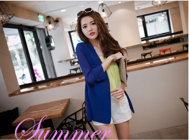 WJ7020 Stylish Cardigan Blue