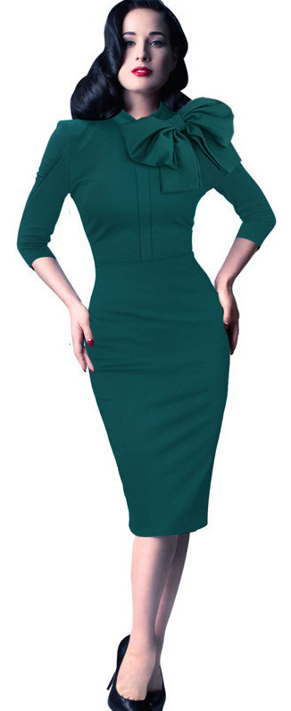 WD7039 Charming Dress Green