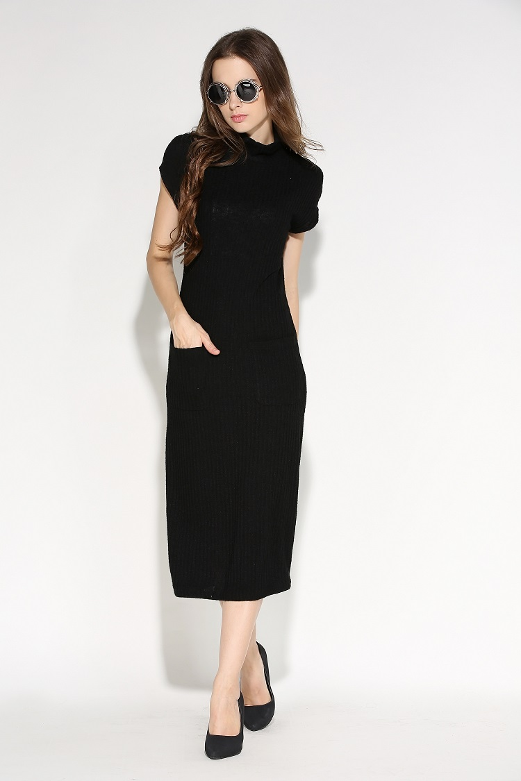 WD7139 Korea Fashion Dress Black