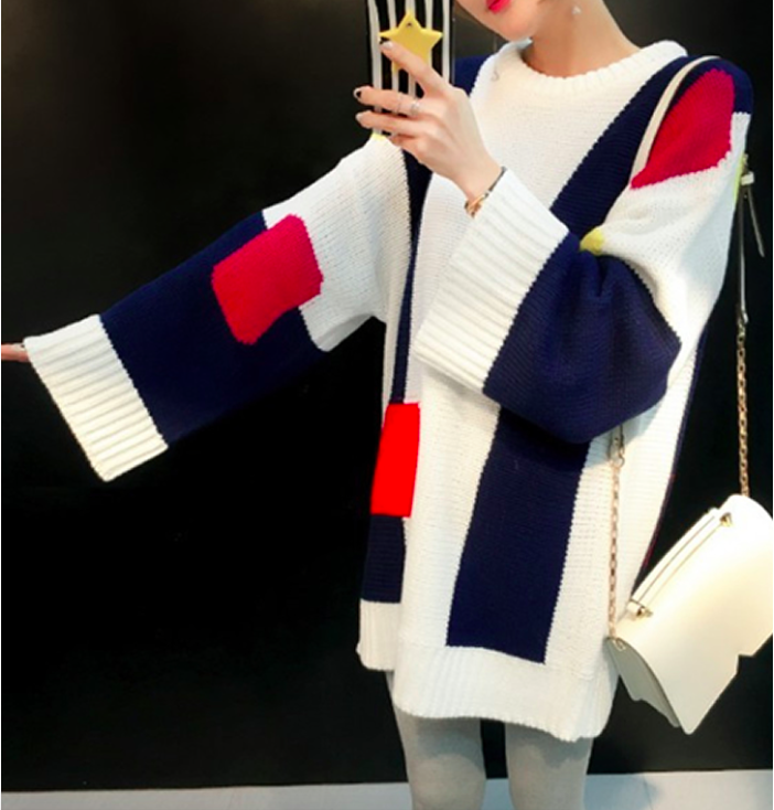 WD7270 Fashion Knit Dress As Picture