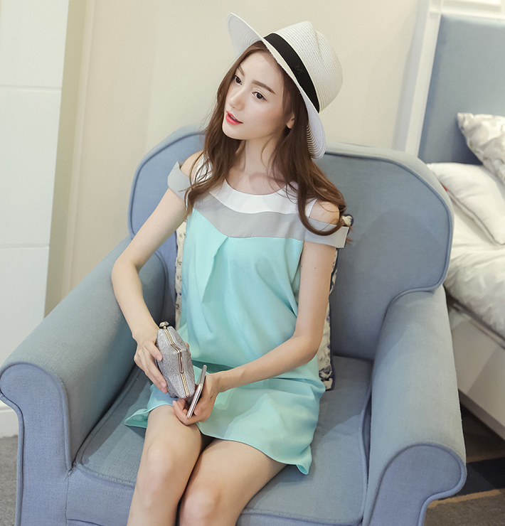 WD3769 Lovely Dress Blue
