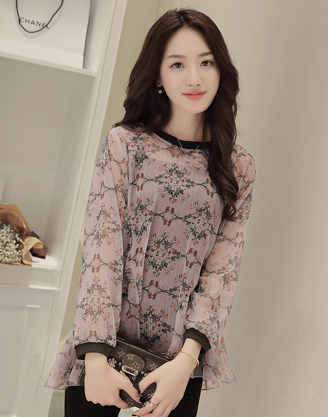 WT7584 Two Pieces Chiffon Top Pink