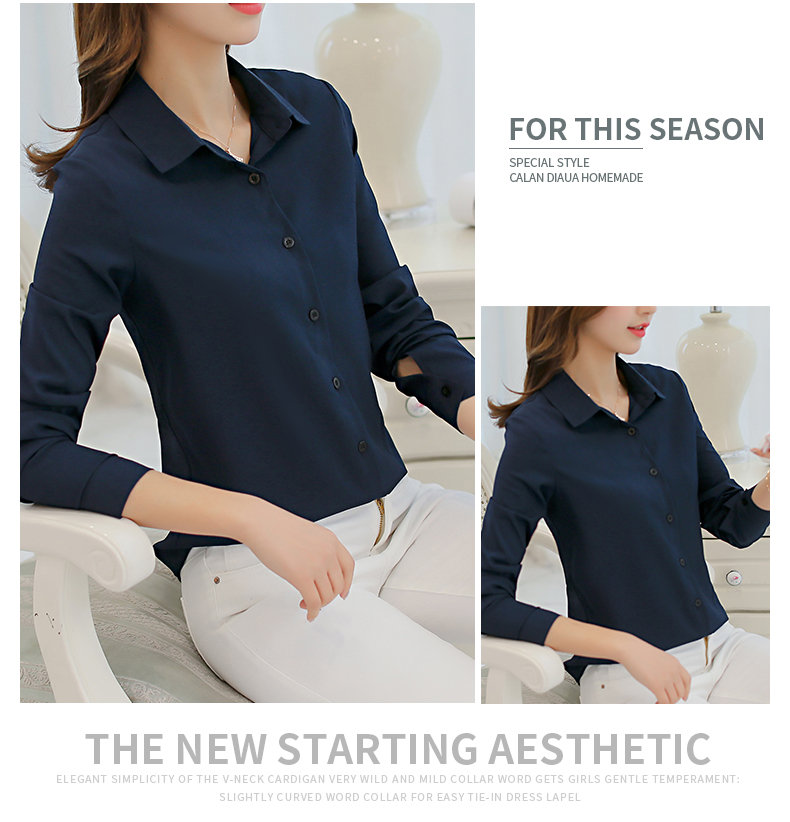 WT3831 Fashion OL Top Dark Blue