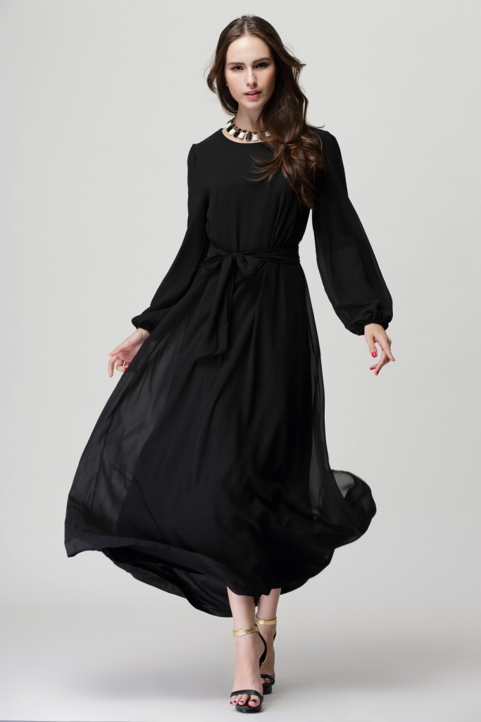 VW8100 Fashion Jubah Black