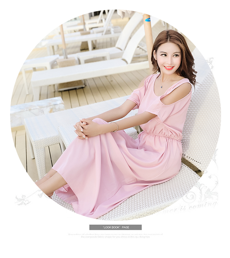 VW8219 Charming Chiffon Dress Pink