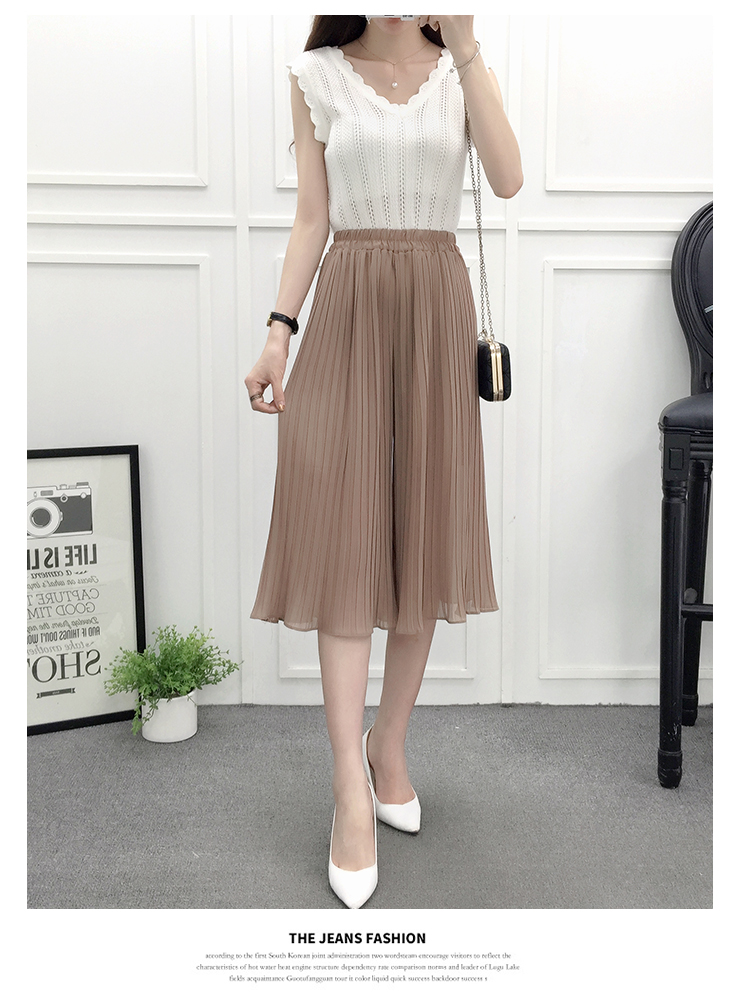 VW8721 Fashion Chiffon Pant Khaki