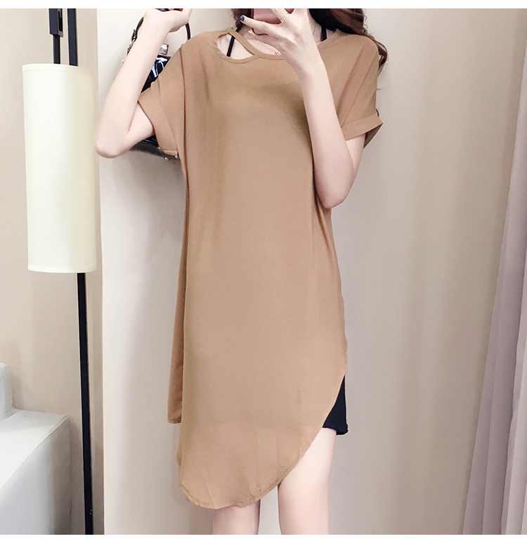 VW10191 Fashion Two Pieces Dress Khaki