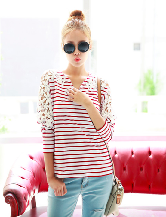 BM70914 Trendy Top Red