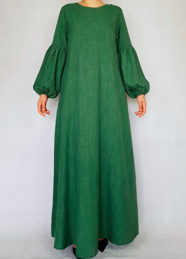 BM71135 Pretty Design Jubah Green