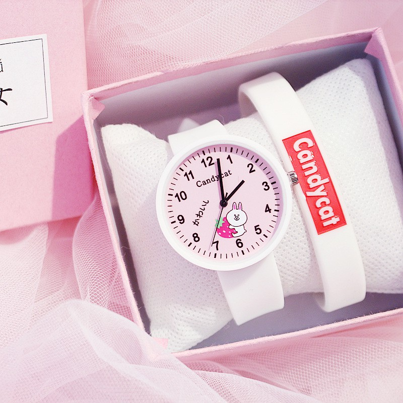 KW80721 CUTE WOMEN'S WATCHES WHITE PINK