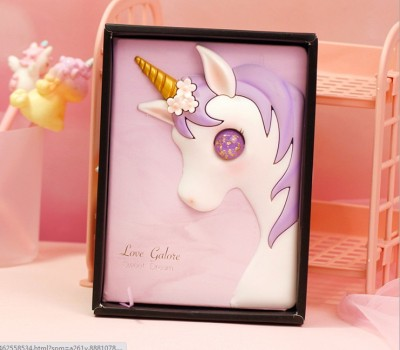 [Pink] 3D Creative Pink Unicorn Dairy/ Notepad Gift Set